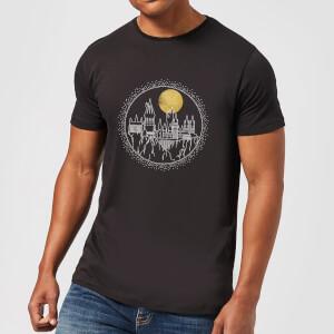 Harry Potter Hogwarts Castle Moon Men's T-Shirt - Black