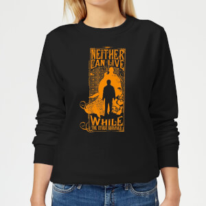 Harry Potter Neither Can Live Women's Sweatshirt - Black