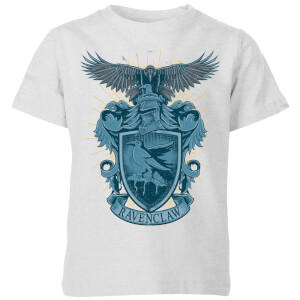 Harry Potter Ravenclaw Drawn Crest Kids' T-Shirt - Grey
