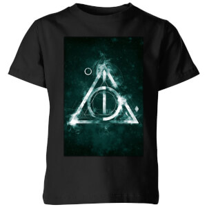 Harry Potter Hallows Painted Kids' T-Shirt - Black