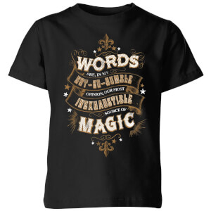 Harry Potter Words Are, In My Not So Humble Opinion Kids' T-Shirt - Black