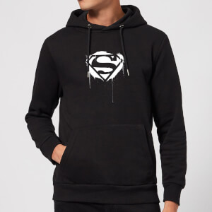 Justice League Graffiti Superman Hoodie - Black
