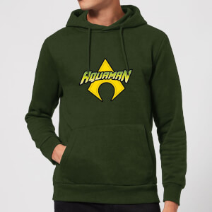 Justice League Aquaman Logo Hoodie - Forest Green