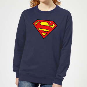 Justice League Superman Logo Women's Sweatshirt - Navy