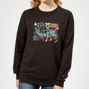 Justice League Crisis On Infinite Earths Cover Women's Sweatshirt - Black