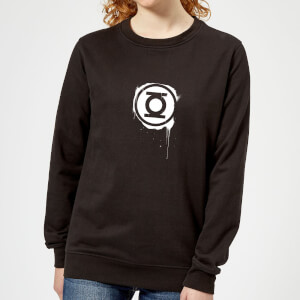 Justice League Graffiti Green Lantern Women's Sweatshirt - Black