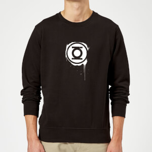 Justice League Graffiti Green Lantern Sweatshirt - Black
