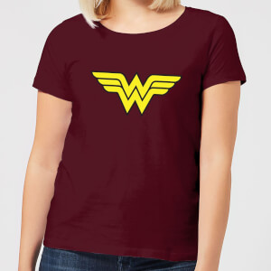 Justice League Wonder Woman Logo Women's T-Shirt - Burgundy