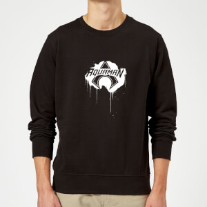 Justice League Graffiti Aquaman Sweatshirt - Black