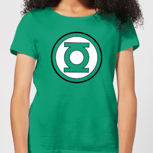 Justice League Green Lantern Logo Women's T-Shirt - Kelly Green