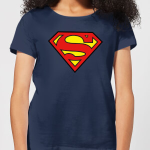 Justice League Superman Logo Women's T-Shirt - Navy