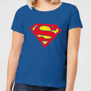 Justice League Supergirl Logo Women's T-Shirt - Royal Blue