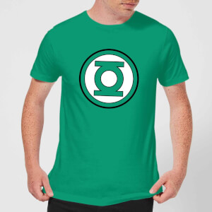 Justice League Green Lantern Logo Men's T-Shirt - Kelly Green