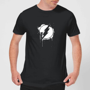 Justice League Graffiti The Flash Men's T-Shirt - Black