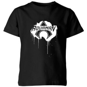 Justice League Graffiti Aquaman Kids' T-Shirt - Black
