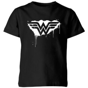 Justice League Graffiti Wonder Woman Kids' T-Shirt - Black