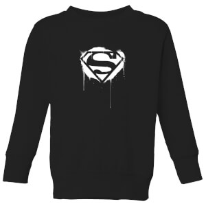 Justice League Graffiti Superman Kids' Sweatshirt - Black