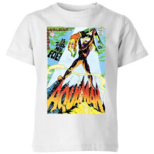 Justice League Aquaman Cover Kids' T-Shirt - White