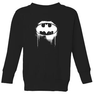 Justice League Graffiti Batman Kids' Sweatshirt - Black
