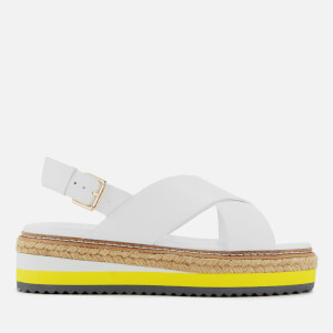Dune Women's Karli Leather Flatform Sandals - White