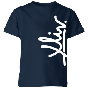 How Ridiculous XLIV Script Vertical Kids' T-Shirt - Navy