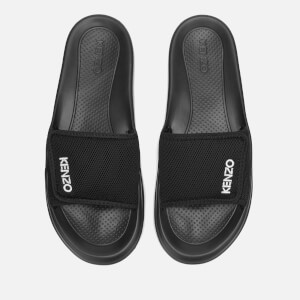 KENZO Men's Logo Pool Slide Sandals - Black