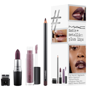 MAC Matte and Metallic Exclusive Lip Kit - Plum Lips (Worth £51.50)