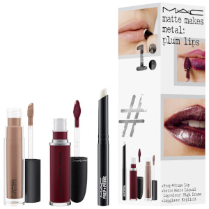 MAC Matte Makes Metal Exclusive Lip Kit - Plum Lips