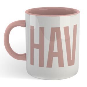 Chav Mug - White/Pink