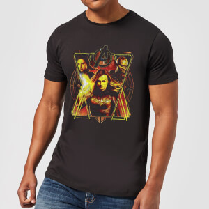T-shirt Avengers Endgame Distressed Sunburst - Homme - Noir