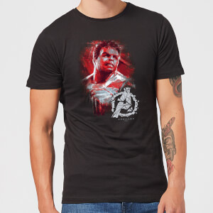 Avengers: Endgame Hulk Brushed heren t-shirt - Zwart