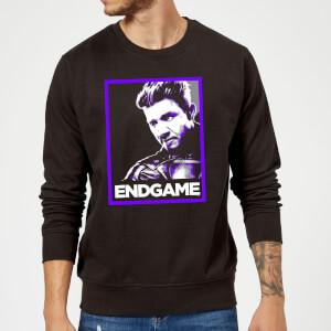 Avengers Endgame Hawkeye Poster Sweatshirt - Black