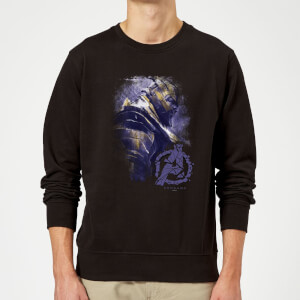 Sweat-shirt Avengers Endgame Thanos Brushed Homme - Noir