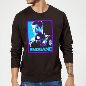 Avengers Endgame Thor Poster Sweatshirt - Black