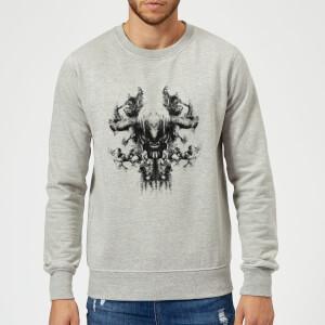 Avengers Endgame Thanos Rorschach Sweatshirt - Grey