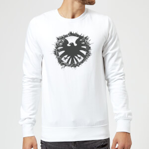 Marvel Avengers Agent Of SHIELD Logo Brushed Sweatshirt - White