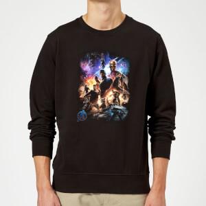 Sweat-shirt Avengers Endgame Character Montage Homme - Noir