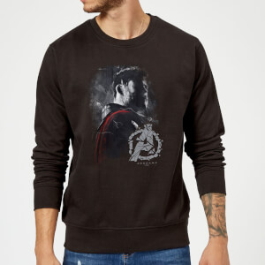 Avengers Endgame Thor Brushed Sweatshirt - Black