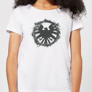 T-Shirt Marvel Avengers Agent Of SHIELD Logo Brushed - Bianco - Donna