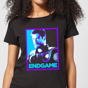 T-Shirt Avengers Endgame Thor Poster - Nero - Donna