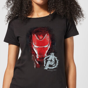 Camiseta Vengadores Endgame Iron Man Brushed - Mujer - Negro