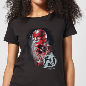 T-Shirt Avengers Endgame Captain America Brushed - Nero - Donna