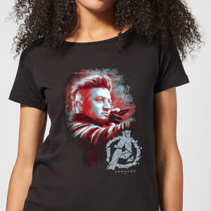 Avengers: Endgame Hawkeye Brushed dames t-shirt - Zwart
