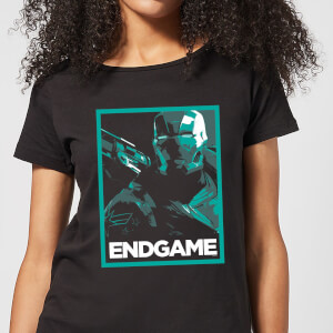 Avengers Endgame War Machine Poster Women's T-Shirt - Black