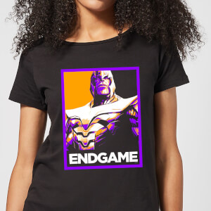 Avengers Endgame Thanos Poster Women's T-Shirt - Black