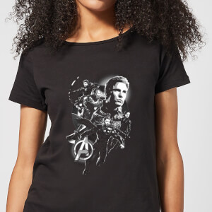 Avengers: Endgame Mono Heroes dames t-shirt - Zwart