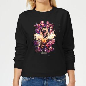 Avengers Endgame Splatter Women's Sweatshirt - Black