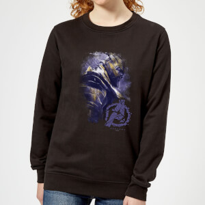 Avengers Endgame Thanos Brushed Women's Sweatshirt - Black