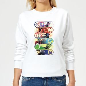 Avengers Endgame Original Heroes Damen Sweatshirt - Weiß