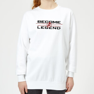 Avengers Endgame Become A Legend Women's Sweatshirt - White